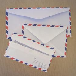 Set of 30 assorted vintage style airmail envelopes