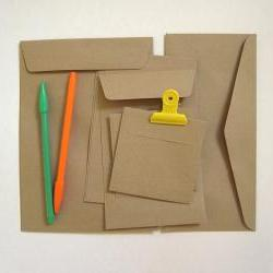 SAMPLE PACK of 20 kraft flat envelopes in 4 different sizes from A5 to card size great for letter mail postcard photo invitation gif