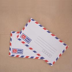 Set of 20 vintage style french airmail flat envelopes with printed inside self glue 16cm X 9cm